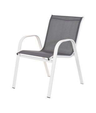 Chaise De Jardin Empilable Anthracite