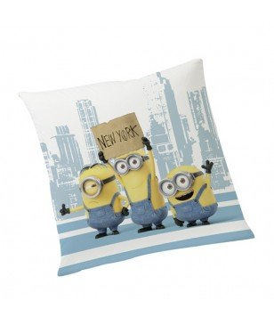 Coussin décoration Minions New York