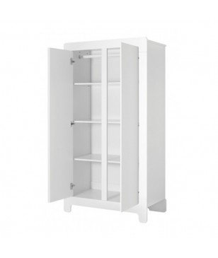 Armoire 2 Portes Bisal Moon Blanc