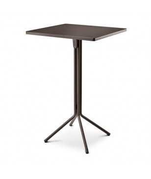Table Haute Grosfillex Ramatuelle 70x70 Cm Gris