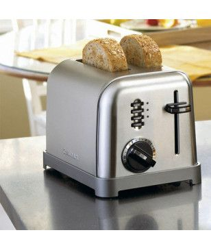 Toaster Grille-Pain Cuisinart Metal CPT160E Gris