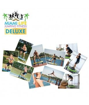 Trampoline Pour Jumping Fitness  Miami Life Fitness Evolution Deluxe Bleu
